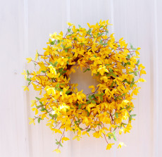 Copy Simulated Wreath Door Wall Decoration Bridal Bouquet Fake Plants Cascading Holding Flower With Faux Pearls Wedding Party Props