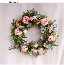 Simulated Wreath Door Wall Decoration Bridal Bouquet Fake Plants Cascading Holding Flower With Faux Pearls Wedding Party Props