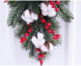 Christmas Wreath of Pine Cones Cotton Berries Decoration Home Decoration Farmhouse Deocr Little daisy artificial flower