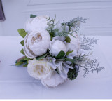 The wedding was held with flowers Decorated for Hallowee Home Wedding Garden Party Decor Wreath Hanging Door Silk Flower