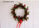 Copy Christmas Berry Wreath Wall Hanging Door Decoration Home Decoration Farmhouse Deocr Little daisy artificial flower