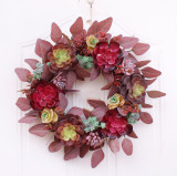 Autumn Fleshy Garland of Pine Cones Cotton Berries Decoration Home Decoration Farmhouse Deocr Little daisy artificial flower
