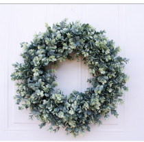 Copy Soft Eucalyptus Wreath Multicolor 46cm Door Ornaments Wall Ornaments Christmas Decoration Portable Ornaments Party Supplies
