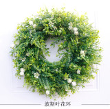Large Simulated Grass Ring Artificial Garland Doors and Windows Decoration Party Home Decoration Christmas Wreath Halloween