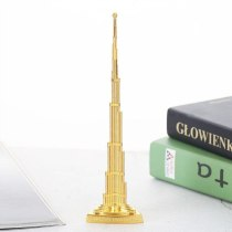 Fashion 3D Toy Zinc Alloy Burj Khalifa Tower Decoration Home Cafe Office Ornament Simulation Mini Dubai landmark building Model