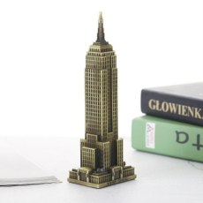 Vintage 3D Toy Handmade Zinc Alloy Empire State Building Decoration Home Cafe Office Ornament Construction Model Building Model