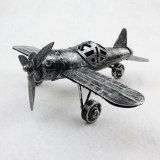 Vintage 3D Handmade Iron Material Home Cafe Ornament Japan Zerosen Moyu Decoration Zero Plane Model  Warcraft Warplane Patterns