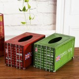 Classical 3D Big Size Container Tissue Box Container Model Case Box Retro Wrought Handmade Metal Crafts For Home Decoration Gift