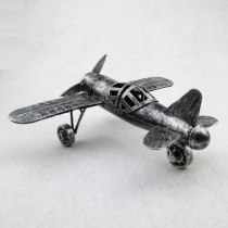Vintage 3D Handmade Iron Material Home Cafe Ornament Japan Zerosen Moyu Decoration Zero Plane Model  Warcraft Warplane Patterns