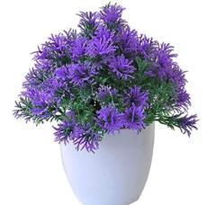 Purple 'Pinus tatarica' Simulation Flower Artificial Plant Wedding DIY Livingroom Simulated Potted Plants Tarzon Plastic