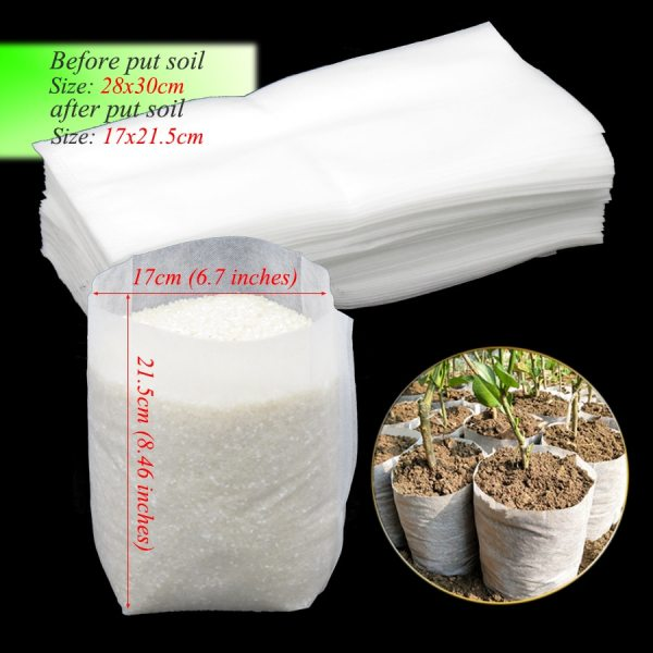 6000PCS 28x30cm Nonwovens Fabrics Seedling Grow Bags Organic Degradable Breeding Bag Environmental Plant Container Cup