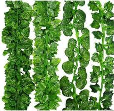 50PCS Garland Green Plant Plastic Vine Foliage Home Garden Charm Decor Grape Leaves