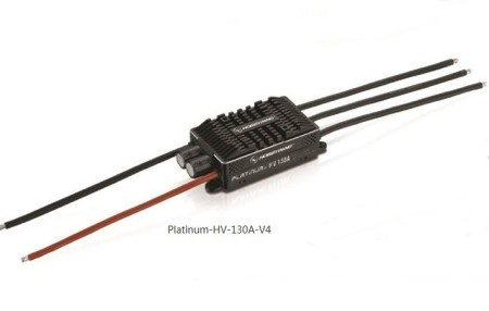 Hobbywing Platinum HV V4 130A BEC / OPTO 5-14S Lipo Empty mold Brushless ESC for RC Drone Helicopter Aircraft
