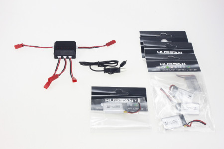 5PCS Hubsan H107-A24 Battery +1 to 5 Balance Charger with 5 PCS JST Cable