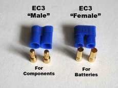 10 pairs EC3 banana plug Female Male Bullet Connector with housing For RC ESC LIPO Battery Motor
