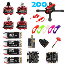 KingKong RAMMUS 200+FPV PNP Kit Electrical Combo with 2205 2300KV Motor F3 PLUS 700TVL Camera 20A ESC 5.8G VTX Propeller