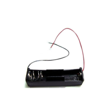 Battery Case with Wire Leads Storage Clip Holder Box for 18650 1 x Lithium Battery