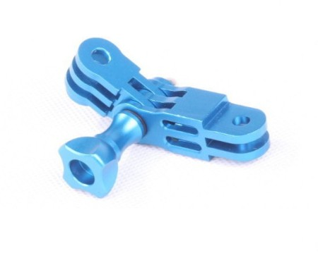 OEM CNC Aluminum Three-Way Pivot Arm Mount Adapter Blue for Gopro HD Hero 3 2 Camera