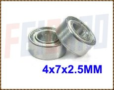 Wholesale F00837-2 2pcs/lot 4x7x2.5 MM Double Metal Shield Bearing For All Align Trex 450 RC Helicopter Toy Plane Model