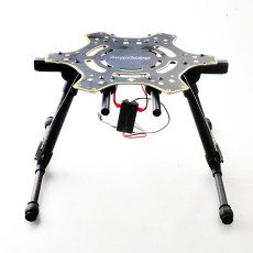 Electric Retractable Landing Gear Skid Upgrade PCB Centre Board for FPV DJI F550 Hexacopter RC Drone Gopro Gimbal