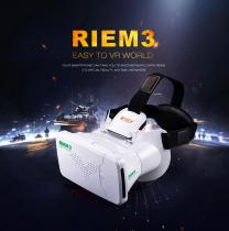 RITECH RIEM3 VR 3D Virtual Reality Glasses Headset Private Theater + Bluetooth Remote Control for 3.5-6 Smartphone