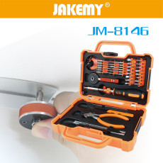 JAKEMY 47 In 1 Multi Function Professional Household Tool Repair Screen Tablet Computer Repair Kit With Ratchet