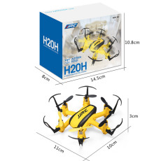 JJRC H20H 2.4G 4 Channel 6-Axle Gyro RC Hexacopter RTF Mini Drone CF Headless Mode One Key Return 3D Flip Altitude Hold