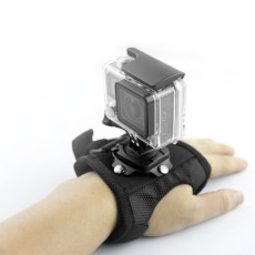 Size L Glove Type Wrist Band 360 Degree Rotation Tripod Mount Holder for  GoPro Hero3+/4/5