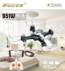 FQ777 951W WIFI Mini Pocket Drone FPV 4CH 6-axis gyro Quadcopter with 30W Camera Smartphone Holder Transmitter