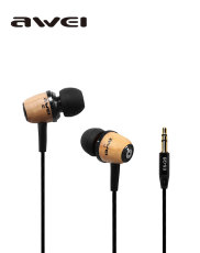 Q9 Wooden Universal in-Ear Earphones Headset Super Bass 3.5mm Jack Headphone for MP3/MP4/Smart Phone