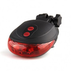 xt-xinte 1 Piece 5 High Light LED Bicycle Rear Lamp Safety Waterproof Bike Laser Tail Light 7 model Caution