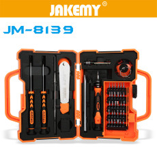 JAKEMY 45 in 1 Multi Bit Screwdriver Kit with Spudger Tweezers for Tablets Mobile Phone PC Repair Telecommunication Tool
