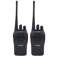 2 Pcs Baofeng BF-666S Two-Way Radio Walkie Talkie UHF 16CH Single Band Transceiver