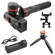 Feiyu Summon Handheld Gimbal Camera Stabilized Set with Phone Holder Tripod Charger 4K 1080P Cam HD Display