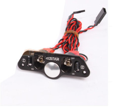 Brand Heavy Duty Metal Dual Power Switch with Fuel Dot Black for RC Helicopter Car Boat Aircraft Engine Part