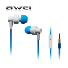 Awei 700i Super Bass In Ear Earphone With Mic Noise Cancelling Noodle Cable Earphones for MP3/MP4/Mobile Phone