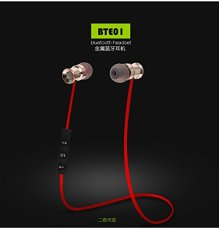 HUAST BTE01 Metal Bluetooth 4.1 Wireless Earphone Stereo Sport Headset with Microphone