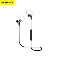 Awei A890BL Wireless Bluetooth V4.0 Earphone With Microphone Noise Cancelling Handsfree Earbuds Running Headset