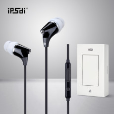iPsdi E09 Earphones Headsets with Microphone Volume Control Earpiece Heavy Bass for Mobile Phone Computer