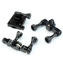 CNC Aluminum Helmet Camera Bracket Adjustment Helmet Mount Kit for GoPro HERO3/3+/4/5 Accessories