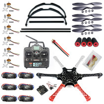 F550 Drone FlameWheel Kit With KK 2.3 HY ESC Motor Carbon Fiber Propellers RadioLink 6CH TX RX+Skid PTZ