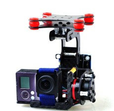 Carbon Fiber Brushless Gimbal Controller Motor Full Plug & Play For Camera Gopro 3 3Plus 4 FPV DJI Phantom RC Quadc
