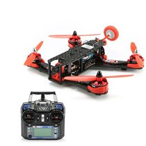 210GT 210mm Mini Quadcopter FPV Racing Drone RTF Combo Full Set with CC3D Flight Control Flysky FS-I6 Remote - Red