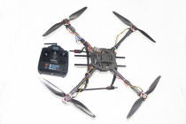 4-Axis Folding 3K Carbon Fiber Frame Kit Assembled RTF Kit with Radiolink 6 CH TX&RX NO Adapter Battery