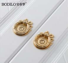 1Piece Chinese Style Gold Single Hole Drawer Door Handle Stealth Handles F13820