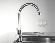 Frap Classic Kitchen Faucet Space Aluminum Brushed Process Swivel Basin faucets 360 Degree Rotation Hot and Cold Water Tap F4052