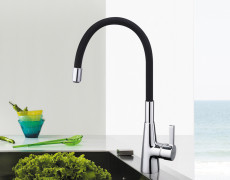 Frap Silica Gel Nose Any Direction Rotation Kitchen Faucet Cold and Hot Water Mixer with Universal Tube F4053/4153/4253/W01-W06