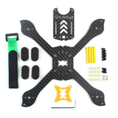 QWinOut Q-TWO Carbon Fiber 210 RC Racing Drone Frame Rack for FPV Racer X Shape Low center of gravity