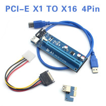 WBTUO PCI-E 1X to 16X extension cable 4Pin PCIE USB3.0 mining dedicated adapter card extension cable