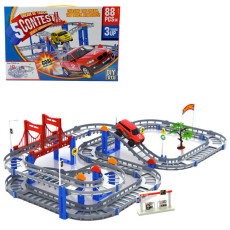 Double Layer Electric Rail Car Train Track Toys Children's Educational Building Blocks 36PCS